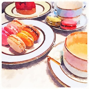 Waterlogue Macarons